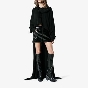 Haider Ackerman Chunky Heel 120 Knee High Boots
